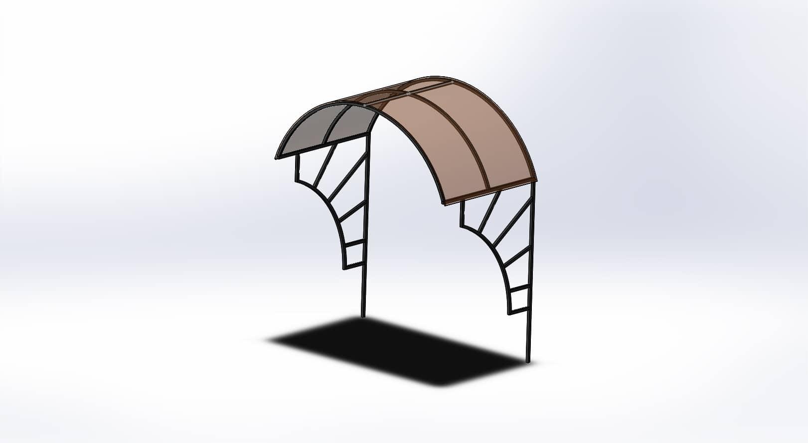 козырек чертеж