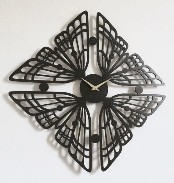 Часы мотылек. Идеи лазерной резки