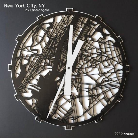 Часы городские пейзажы