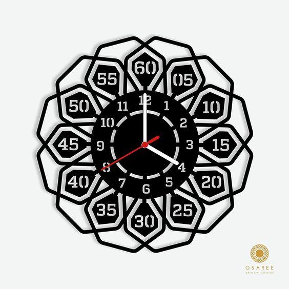 Цветочные часы. Идеи для лазерной резки