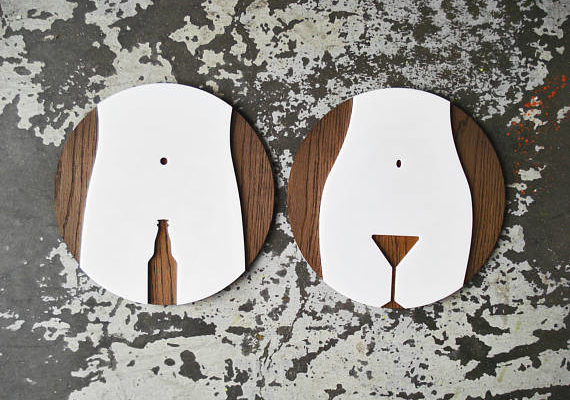 Таблички для туалета. Лазерная резка