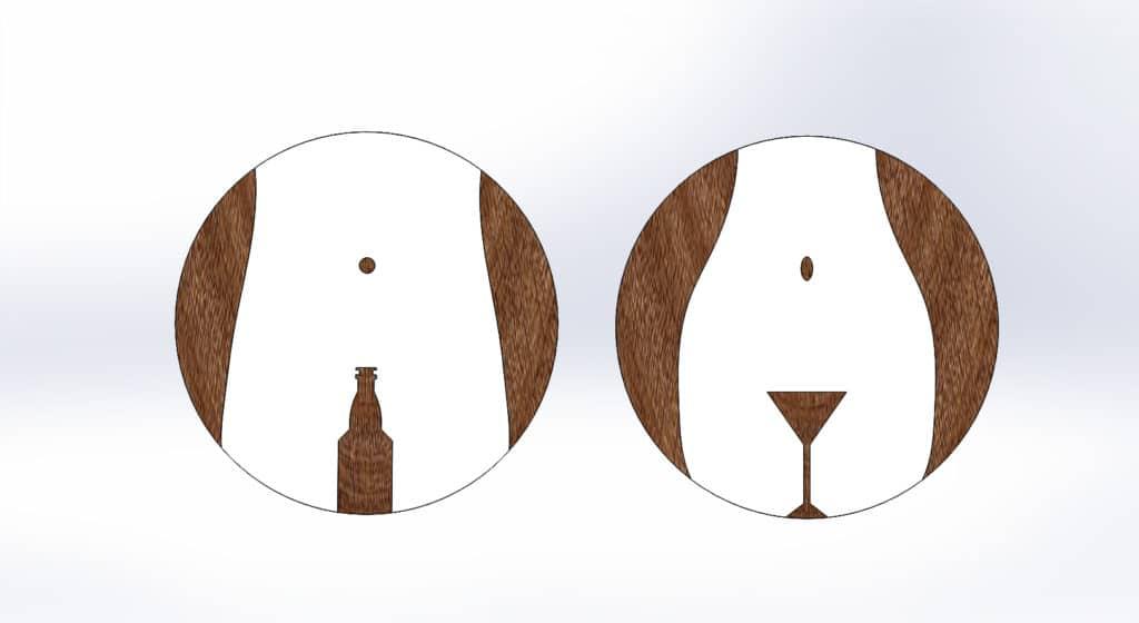 чертеж таблички для туалета №1 для лазерной резки