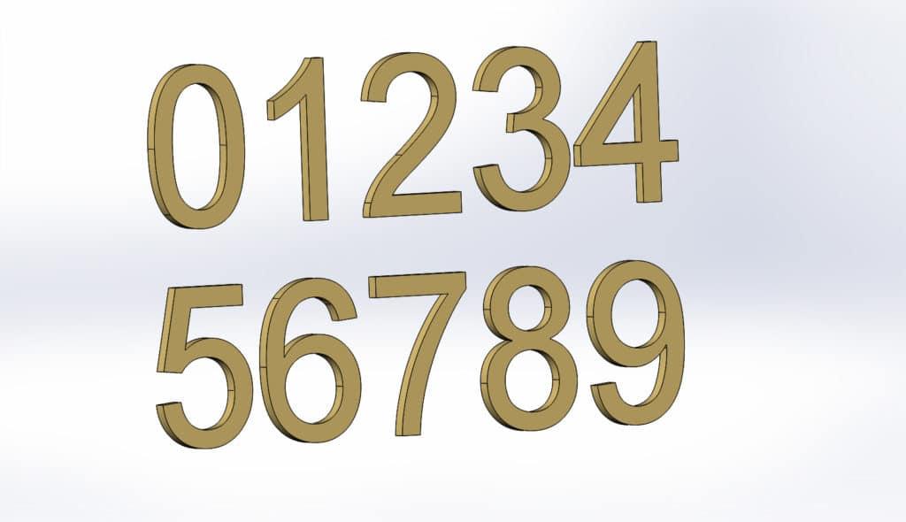 цифры для плазменной и лазерной резки