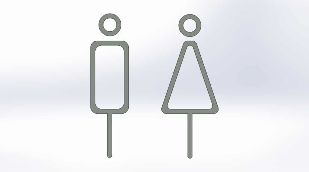 чертеж таблички для туалета №5