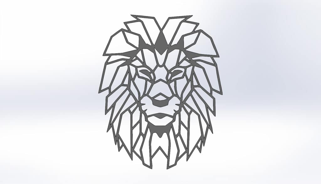 Чертежи для резки льва