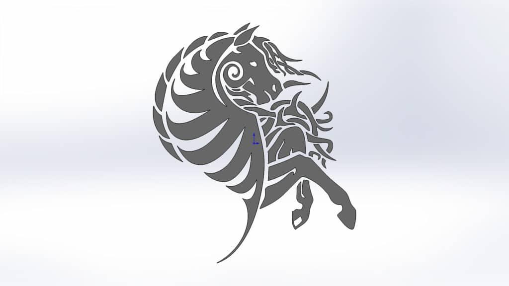 Чертежи коня для резки