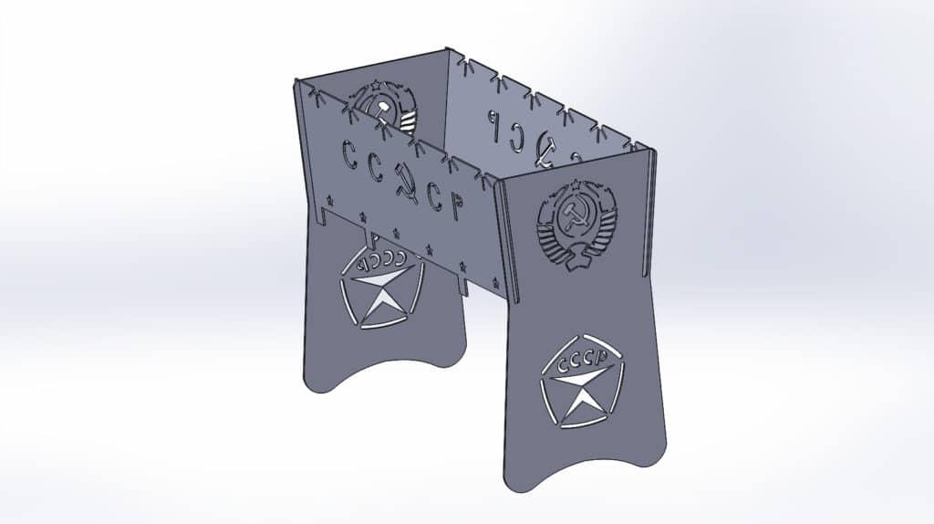 Чертежи для резки мангала СССР 2 разборный для лазерной и плазменной