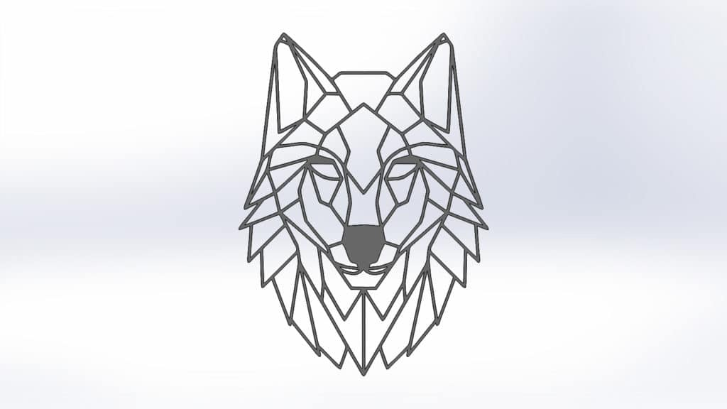 Чертежи для резки волка