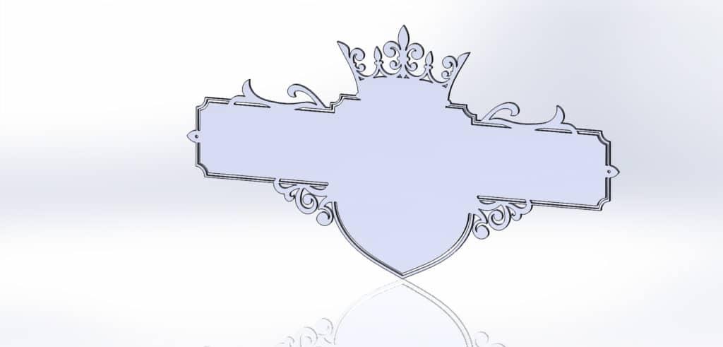 чертеж адресной таблички для резки с короной