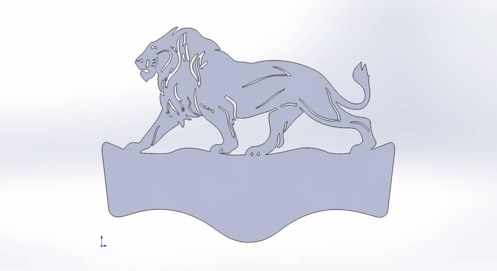 чертеж адресной таблички для резки со львом