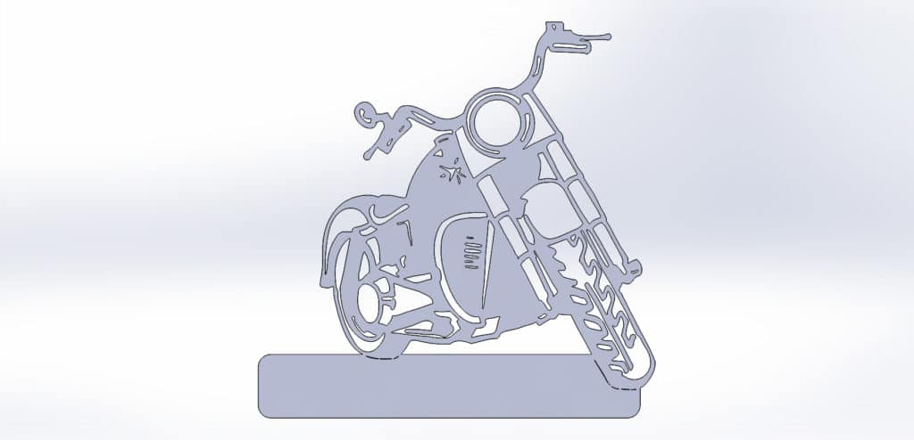 чертеж адресной таблички для резки с мотоциклом