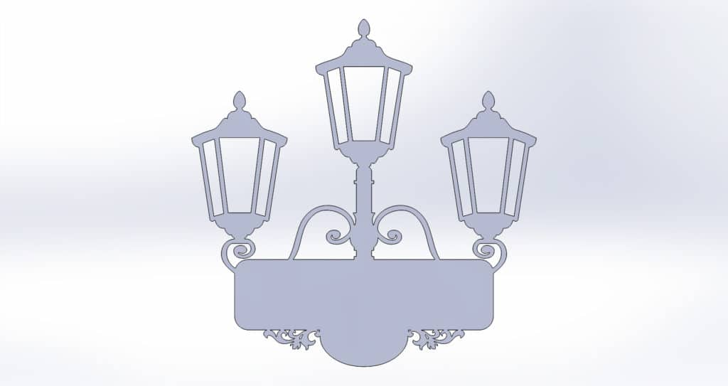 чертеж адресной таблички для резки с фонарями