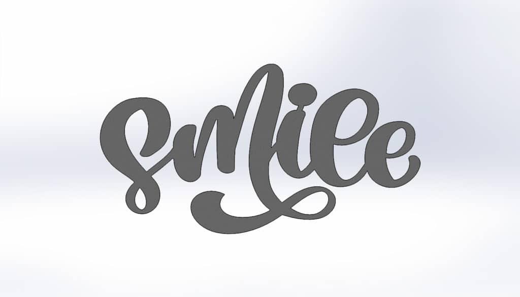 Чертежи для резки пано на стену smile