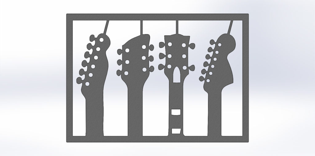 "Чертежи для резки ""Гитары"". Панно на стену"""