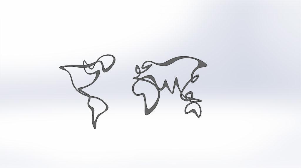 """Чертежи для резки """"Карта земли"""". Панно на стену"""""""