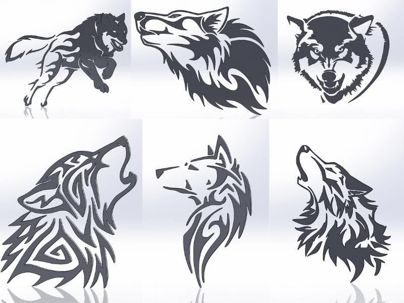 Чертежи для резки, файлы dxf, волки