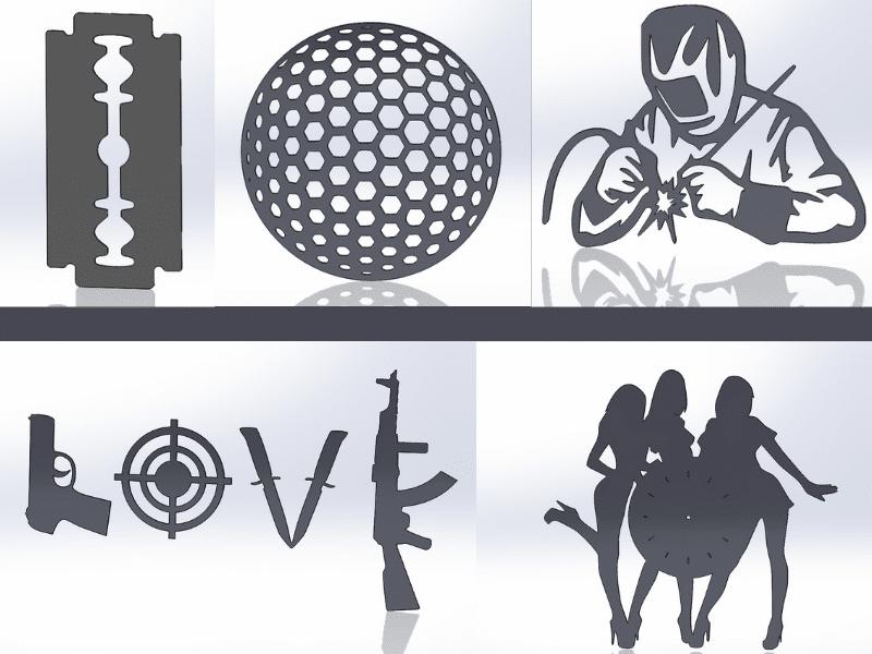 Чертежи для резки, файлы dxf, love